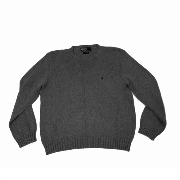 Polo by Ralph Lauren Other - Polo Ralph Lauren Men's Gray Cotton Sweater Large